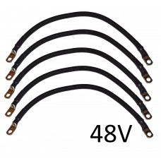4 AWG Battery Cable Set for Club Car DS 48V