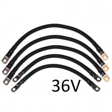 2 AWG Battery Cable Set for Yamaha G14 / G16 36V