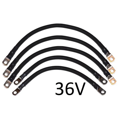 2 Awg Battery Cable Set For Yamaha G14 G16 36v